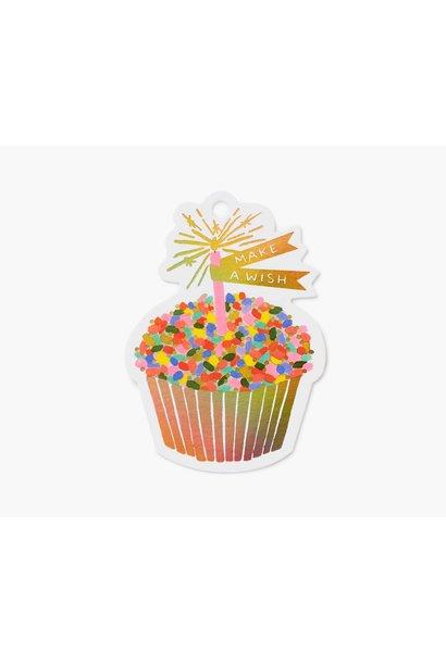 cupcake die-cut gift tag