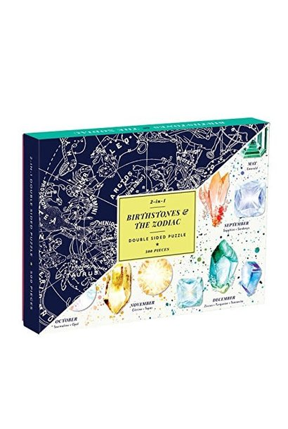 500pc birthstone and zodiac 2 sided puzzle