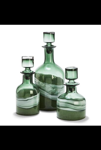 green swirl decanter medium