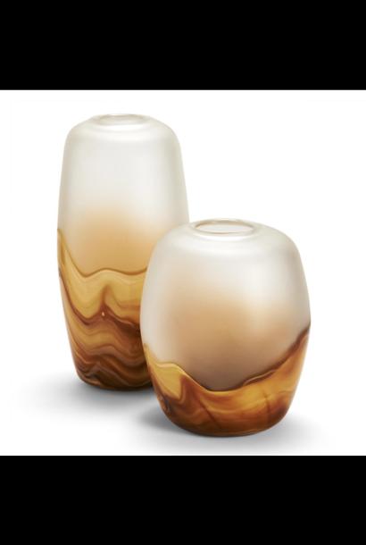amber quartz 2 tone vase small
