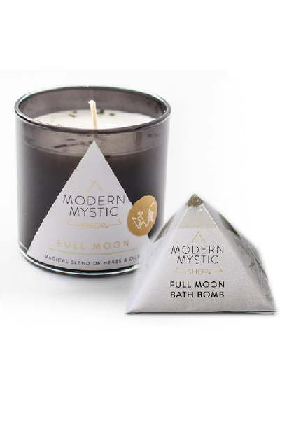 full moon candle & bath bomb