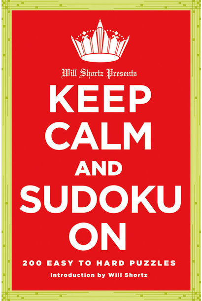 NYT keep calm and sudoku on book