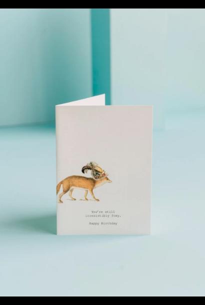 still irresistibly foxy card