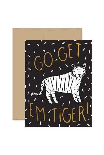 go get em tiger card