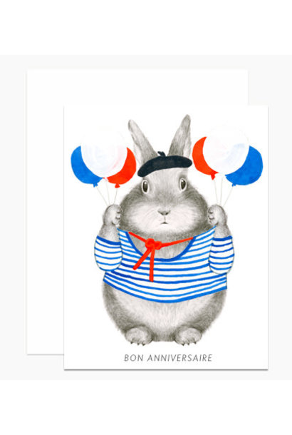 bon anniversaire bunny card