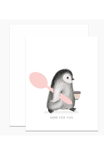 here for you penguin card
