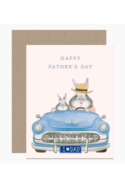 dad blue car father's day card