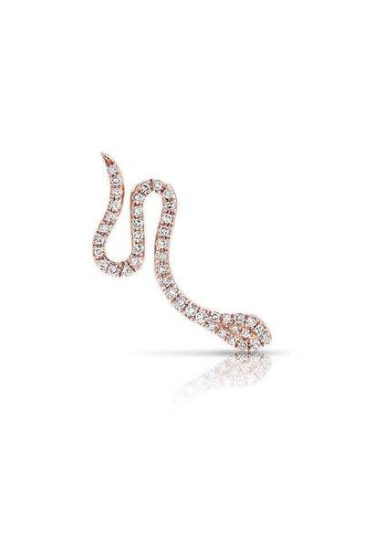 AS1 14KT rose gold diamond snake ear climber