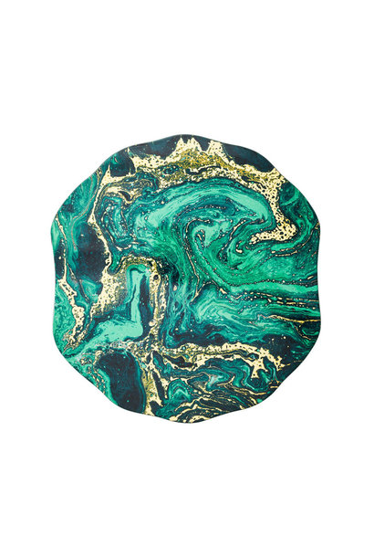 cosmos placemats emerald & gold s4
