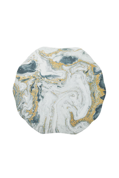 cosmos placemats ivory gold & silver s4
