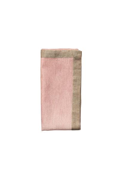dip dye napkin blush & gold s4
