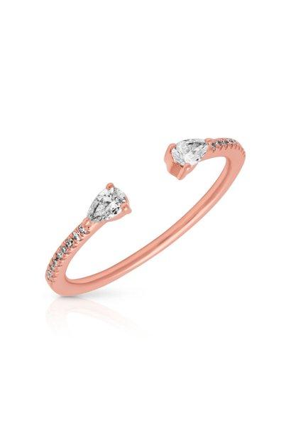 14KT rose gold diamond monet stacking ring