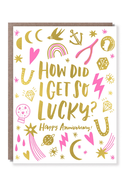 lucky charm anniversary card