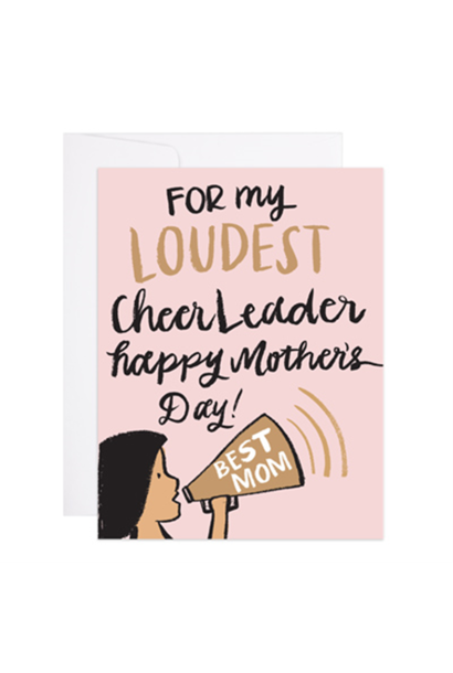 cheerleader mom mother's day card