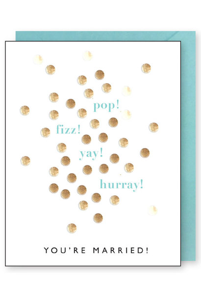 pop fizz wedding card
