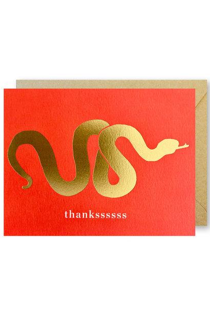 golden snake thank you card
