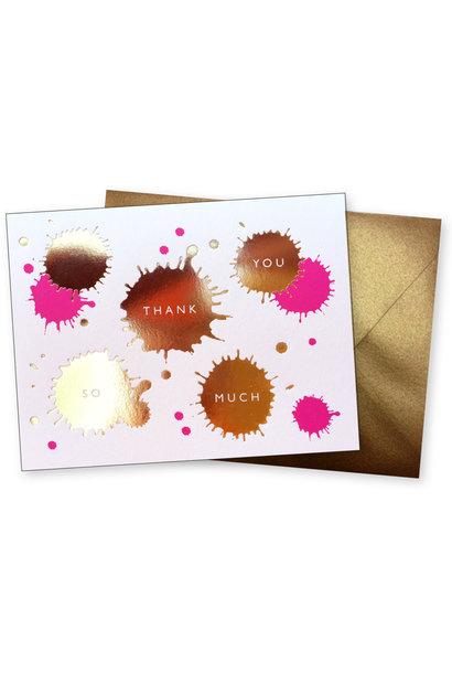 paint splatter thank you card