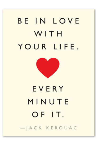 love life quote card