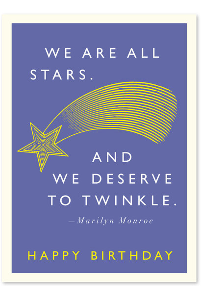 marilyn stars birthday card