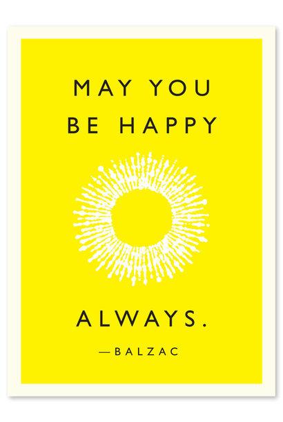 balzac quote be happy card