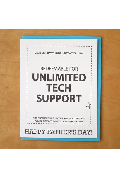 unlimited teach support father's day card