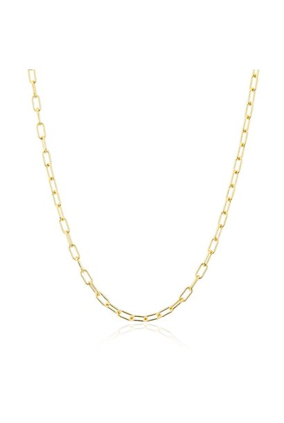 "14KT yellow gold 18"" linked chain lyla necklace"