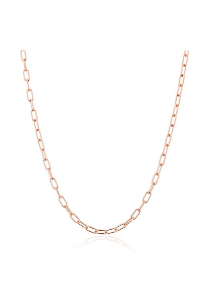"14KT rose gold 18"" linked chain lyla necklace"