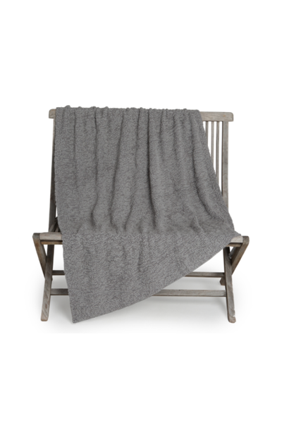 boucle gray throw