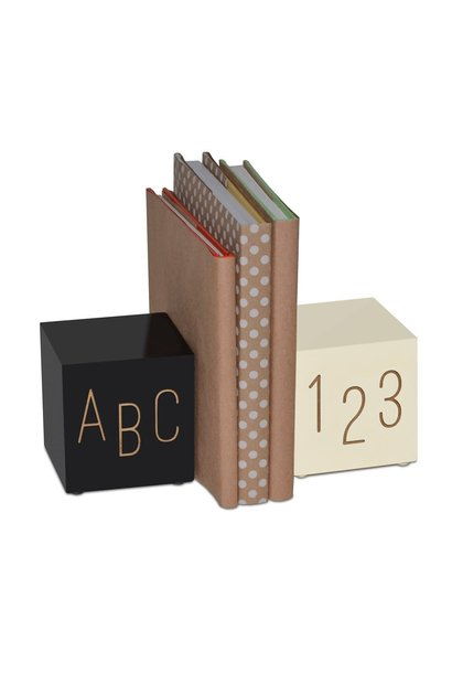 Black and White Bookends ABC123