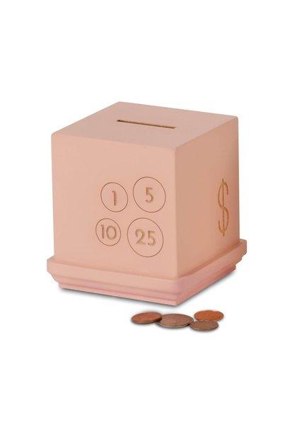 Pink Modern Cents Bank