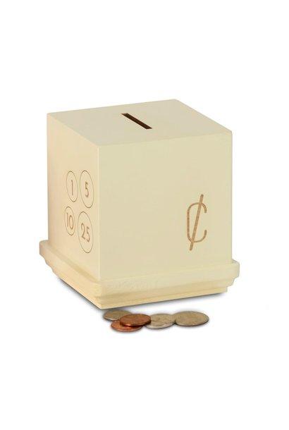 Cream Modern Cents Bank