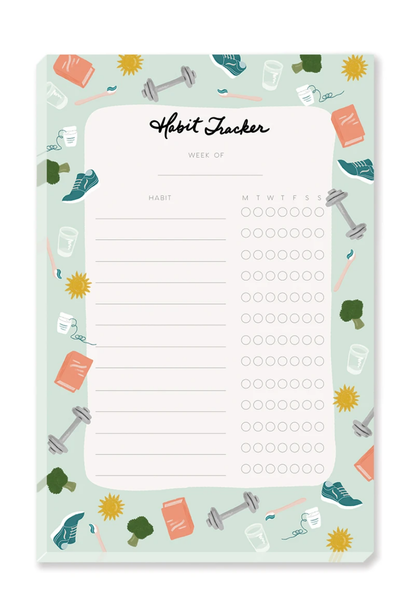 habit tracker note pad