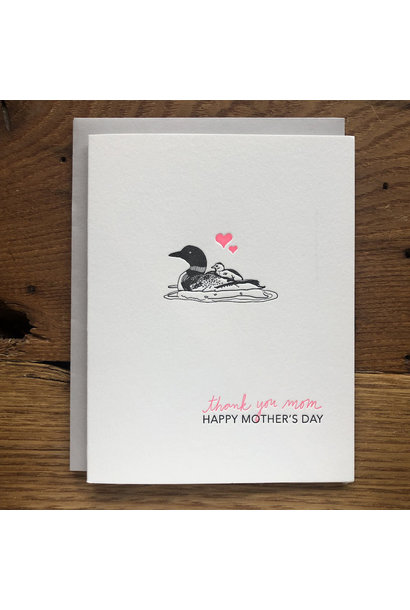 loon mom mother's day card