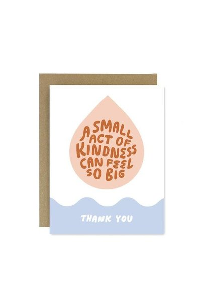 small act of kindness thank you card