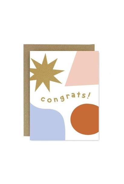 congrats shapes & colors card