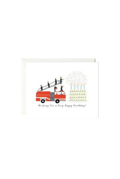 birthday fire truck card