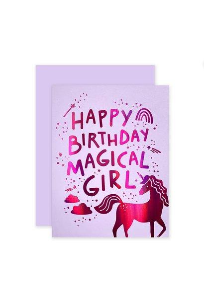 happy birthday magical girl card
