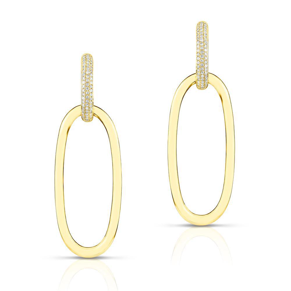 14KT yellow gold diamond janesse earrings-1