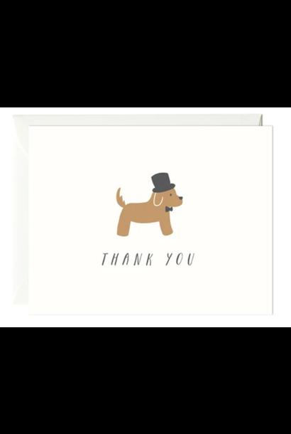 dog thank you card