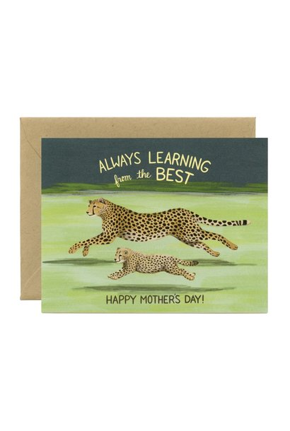 cheetah mom card