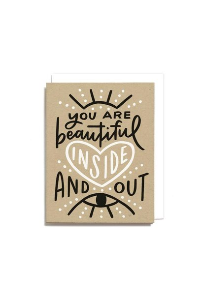 beautiful inside and out card