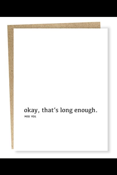 long enough card