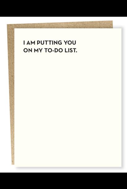 to-do list card