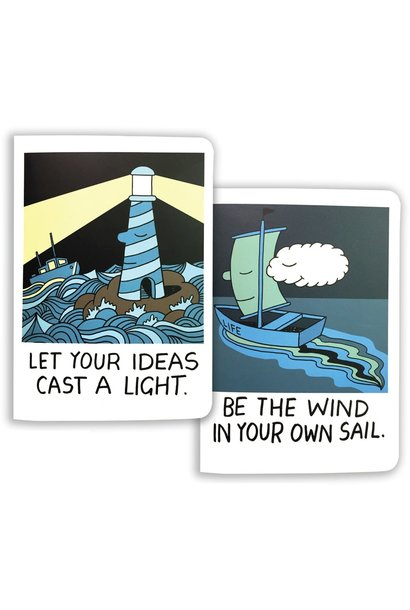 cast a light/be the wind notebooks