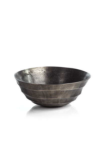 Kenya Silver Antique Aluminum Bowl - Small