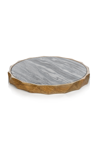 san ramon wood gray marble board 15""