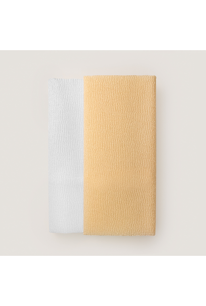 white/beige twin skin polishing towels