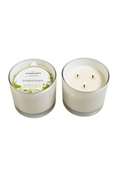 eucalyptus mint mosquito candle in 3 wick candle