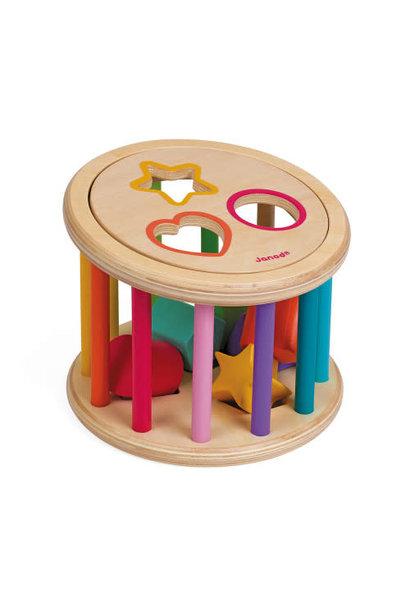 I wood shape sorter drum