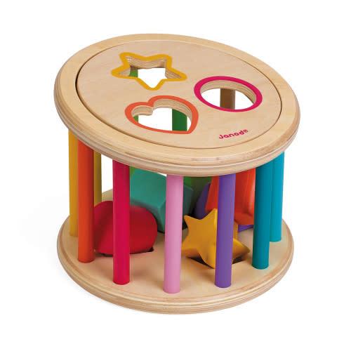 I wood shape sorter drum-1
